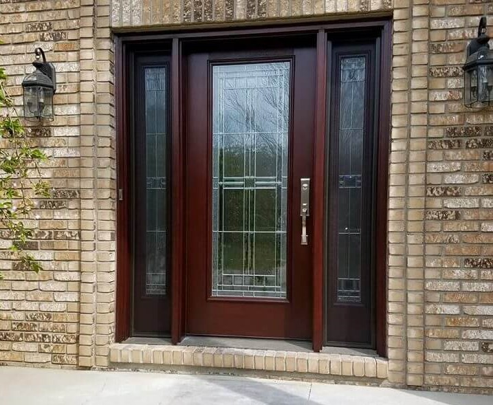 door at front entrance of home